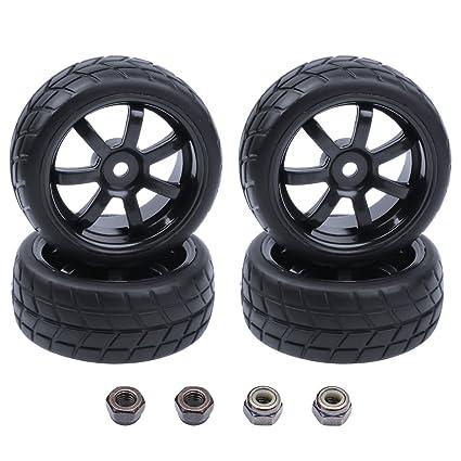 Amazon Com 4pcs Hobbypark 26mm 1 10 Rc Touring Car Tires 12mm Hex