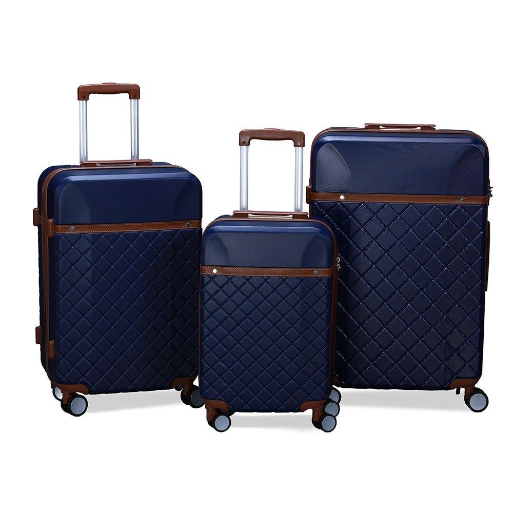 Luggage Set 3 Piece Suitcase Lightweight Spinner Suitcase by URSTAR