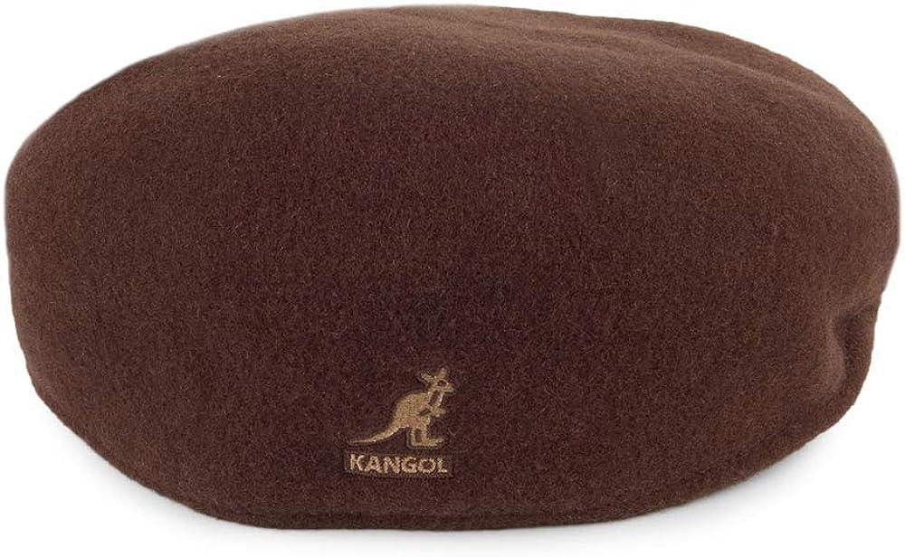 Kangol Casquette Plate en Laine 504 Tabac