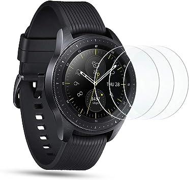 OMOTON Protector Pantalla para Samsung Galaxy Watch 42mm, Cristal Templado Samsung Watch 42mm, 9H Dureza, Anti-arañazos, Sin Burbujas, 3 Piezas: Amazon.es: Electrónica