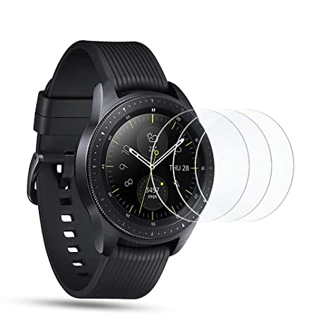 OMOTON Protector Pantalla para Samsung Galaxy Watch 42mm, Cristal Templado Samsung Watch 42mm, 9H