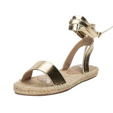 a0322833f12f9 LALA IKAI Platform Espadrille Sandals Orange Strappy Espadrilles Flats Lace  up Open Toe Sandal Holiday Shoes