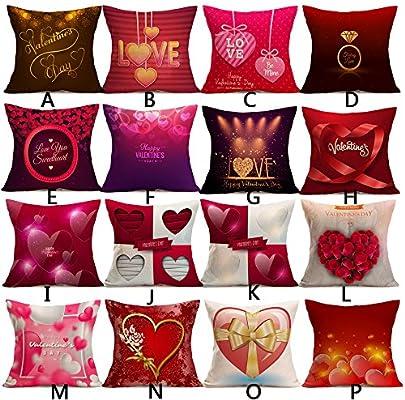Día de San Valentín corazón impresión manta fundas de ...