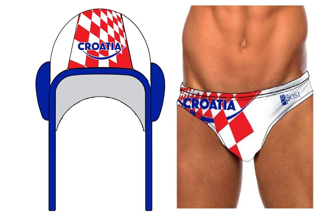 BBOSI Costume da bagno cuffia pallanuoto Croazia slip piscine uomo e bambini pallanuoto nuoto