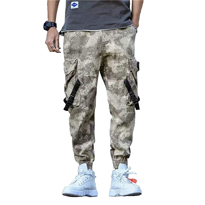 HNRLSL Pantalones Streetwear Pantalones de chándal de Camuflaje de ...