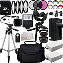 Ultimate 58mm Lens 28PC Accessory Kit for Canon EOS Rebel T2i T3i T4i T5i DSLR Cameras Includes Wide Angle & Telephoto Lenses + 3PC Filter Kit + 4PC Macro Filter Kit + 6PC Graduated Color Filter Kit + 2 Extended Life Replacement Batteries +