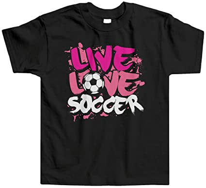 Amazon.com  Threadrock Little Girls  Live Love Soccer Toddler T ... 8630cbb2e