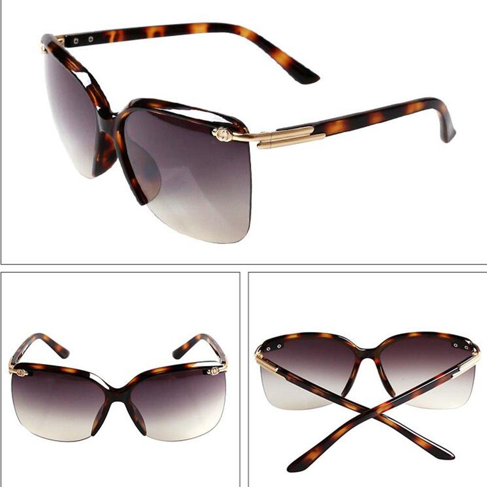 WYYY lunettes de soleil Goggle Lunettes De Conduite Mlle Demi-trame Gradient Classique Rétro Lumière Polarisée Protection Contre Le Soleil Anti-UVA Protection UV 100% (Couleur : Bean color) 3Tc9HV4Gr