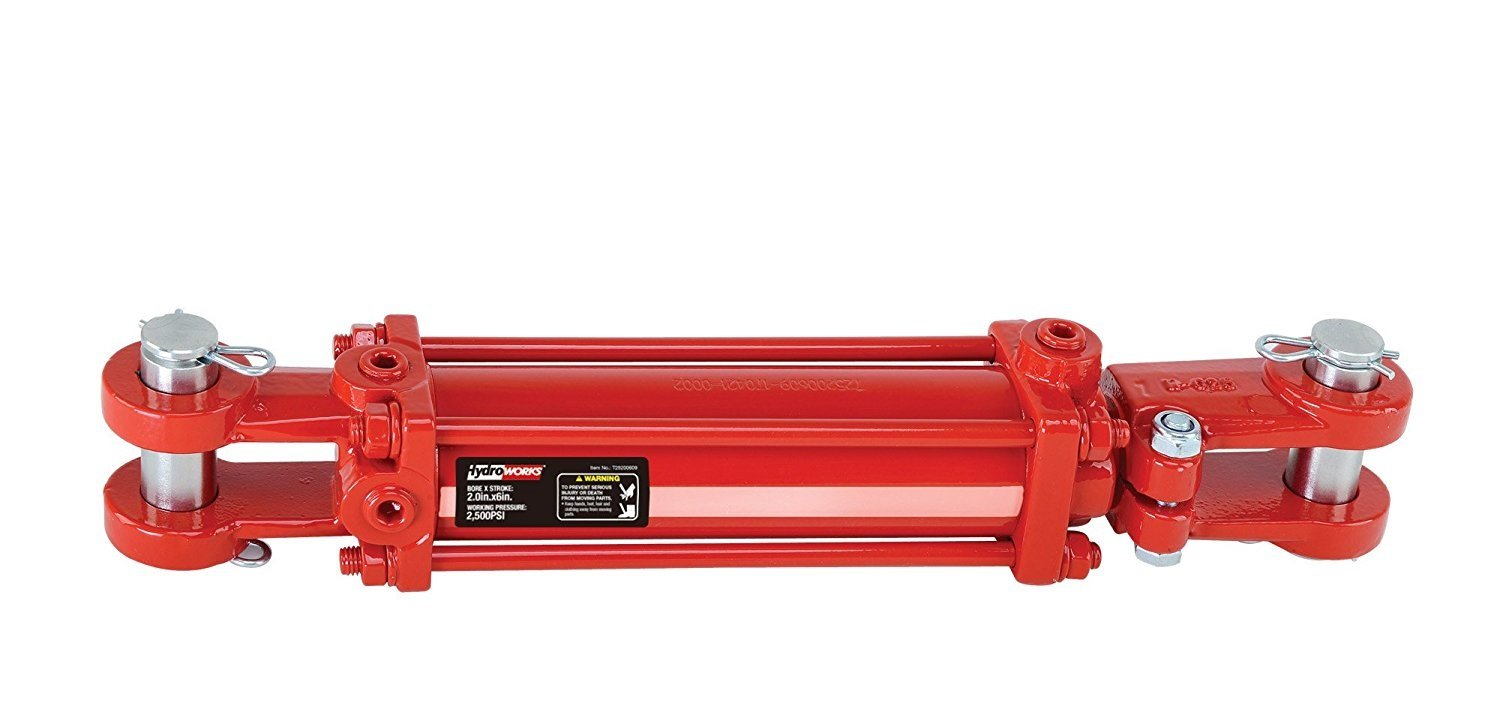 Hydroworks Double Acting 3-Inch Bore 24-Inch Stroke Tie Rod Hydraulic Cylinder, 2500psi