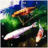 3dRose Chinese Koi Carp Fish Wall Clock, 10 by 10-Inch