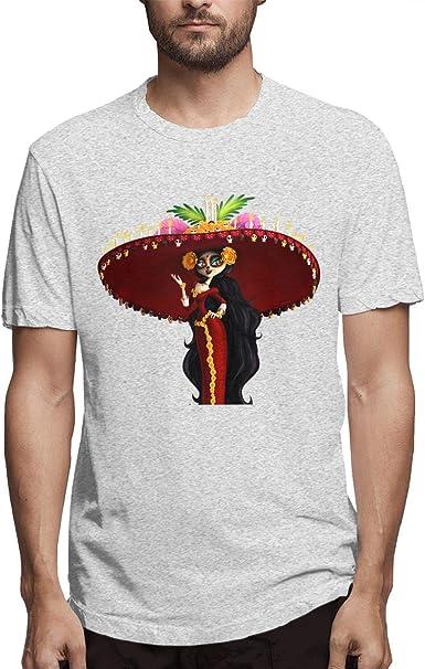 zhkx Camiseta Death La Calavera Catrina Day of The Dead Life ...