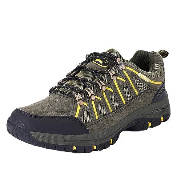 Zapatillas de Senderismo Antideslizante Aire Libre y Deporte Trabajo Puntera de Acero Zapato de Senderismo Ligero Cómodo Atlético Caminar Seguridad Zapatillas Hombre: Amazon.es: Zapatos y complementos
