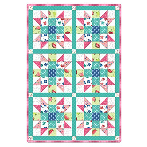 Sprinkle Sunshine Sister's Choice Pre-Cut 6 Block Quilt Kit by Maywood Studio by Maywood Studio