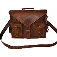 Goatstuff Vintage Style Real Leather Handmade Messenger Bag/ Breifcase