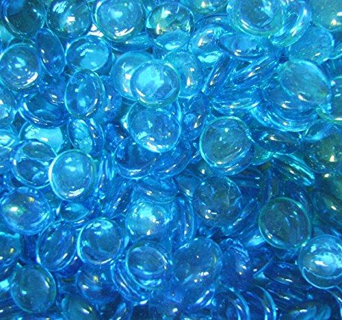 (Creative Stuff Glass - 1 LB Light Blue Medium - Glass Gems - Vase)