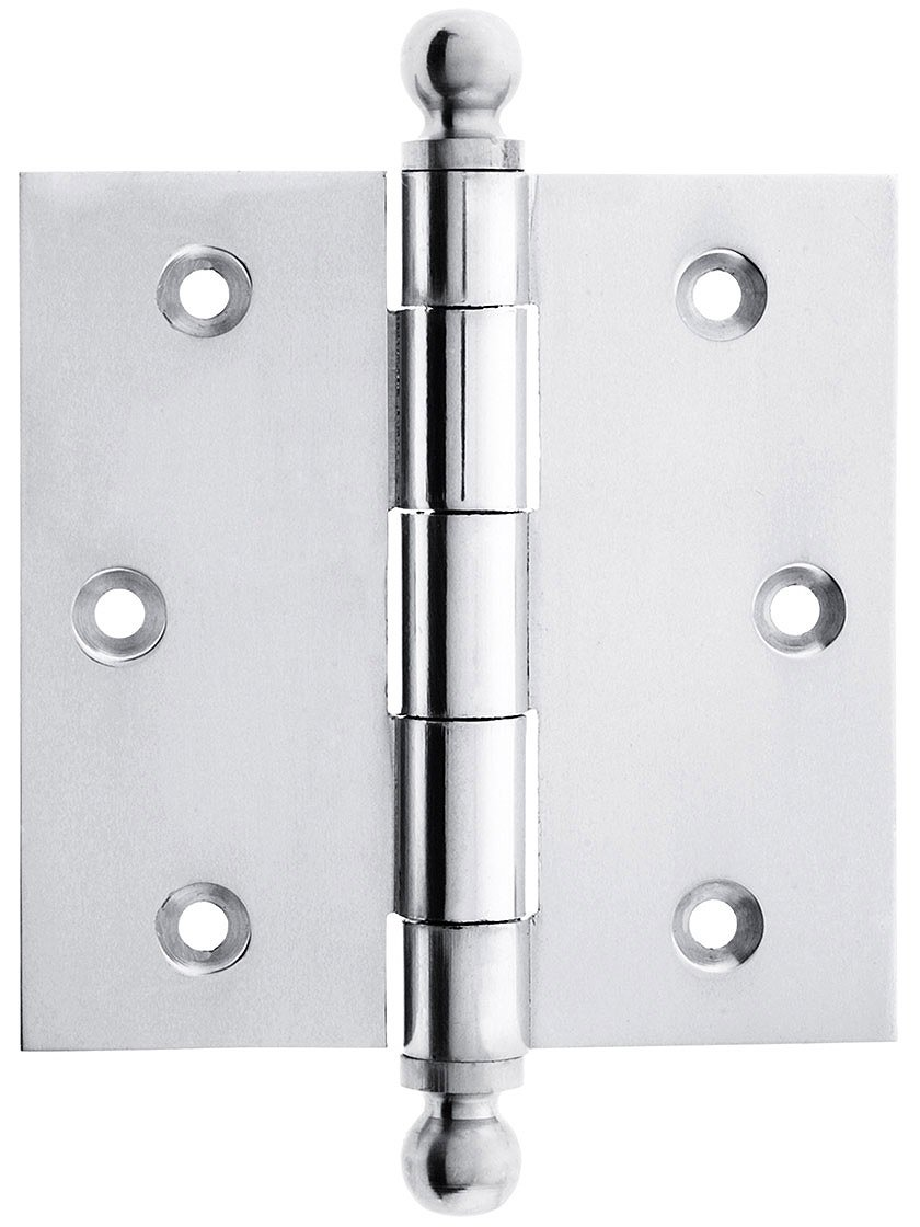 3 1/2\  Solid Brass Door Hinge With Ball Finials In Polished Chrome - - Amazon.com  sc 1 st  Amazon.com & 3 1/2\