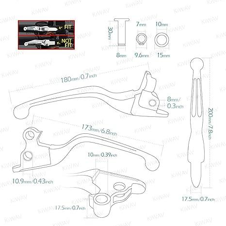 Brems Und Kupplungshebel Mattschwarz Mit Zwei Schlitze Für Harley 14 16 Flhr Und Flhrc Und 08 13 Touring Trike Auto