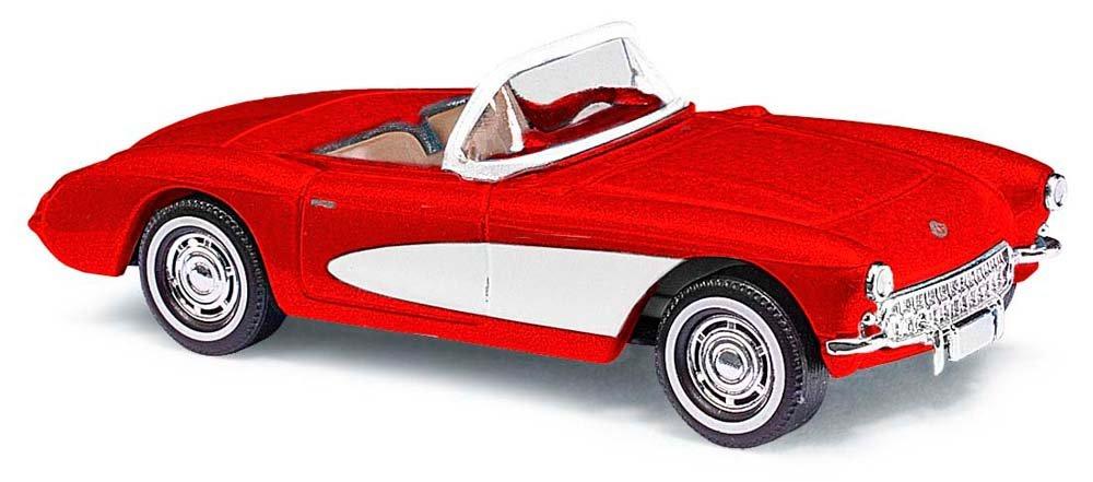 Busch Cars - BUV45409 - Modellazione - Chevrolet Corvette Converdeible - Red