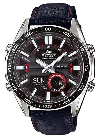 d06cb9f1d9c7 EDIFICE Reloj Analógico-Digital para Hombre de Cuarzo con Correa en Cuero  EFV-C100L-1AVEF  Amazon.es  Relojes
