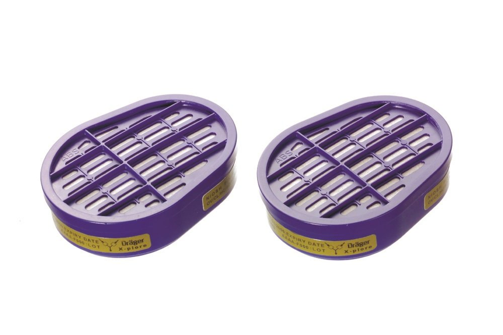 Dräger X-plore Gas Cartridge OV/AG/HF/FM/CD/AM/MA/HS | 20 Pieces | NIOSH-Approved | for Dräger X-plore 5500 Full-Face Respirator Mask | for Dräger X-plore 3300 & 3500 Half-Face Respirator Masks