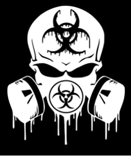 amazon hood decal gas mask 18 star fits jeep wrangler automotive Hood Chevy Truck Top View ur impressions skull dripping biohazard respirator decal vinyl sticker graphics cars trucks suv vans walls windows