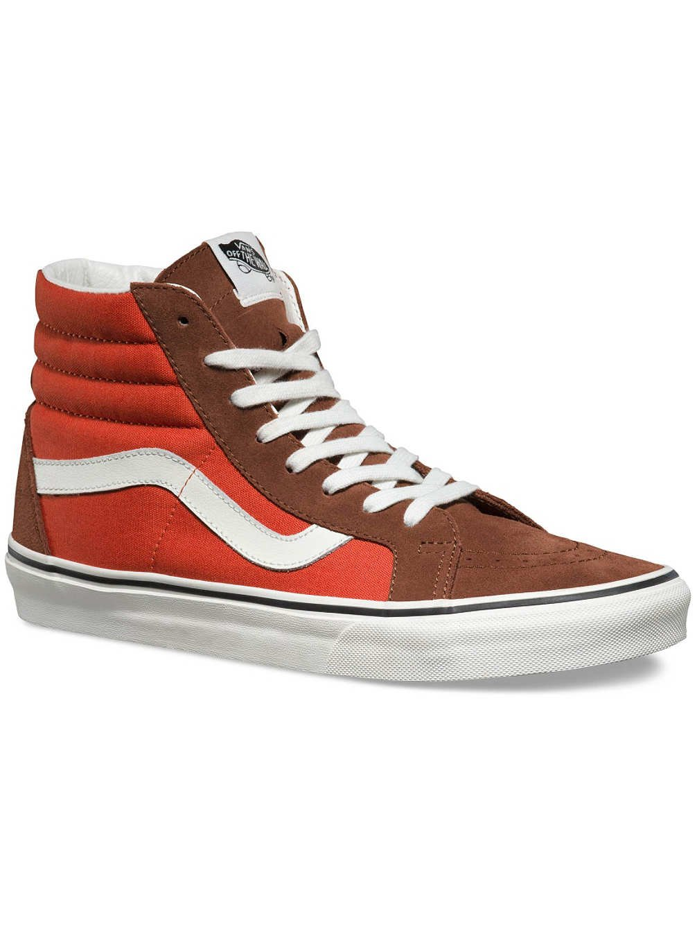01a987413f Galleon - Vans Sk8-Hi Reissue 2 Tone Cappuccino Burnt Ochre Ankle-High  Canvas Skateboarding Shoe - 12M 10.5M