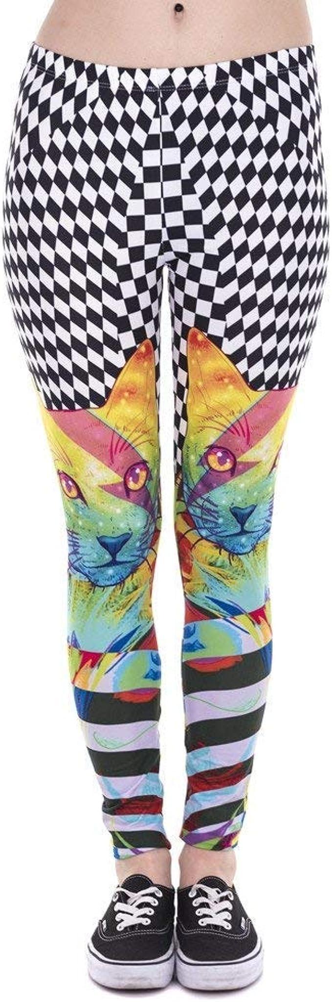 Pantalones De Yoga Moda Mujer Leggings Colorido Gato Ropa Hipnótico Impreso Leggins Fitness Legging Pantalones De Mujer De Cintura Alta (Color : Lga43854, Size : One Size): Amazon.es: Ropa y accesorios