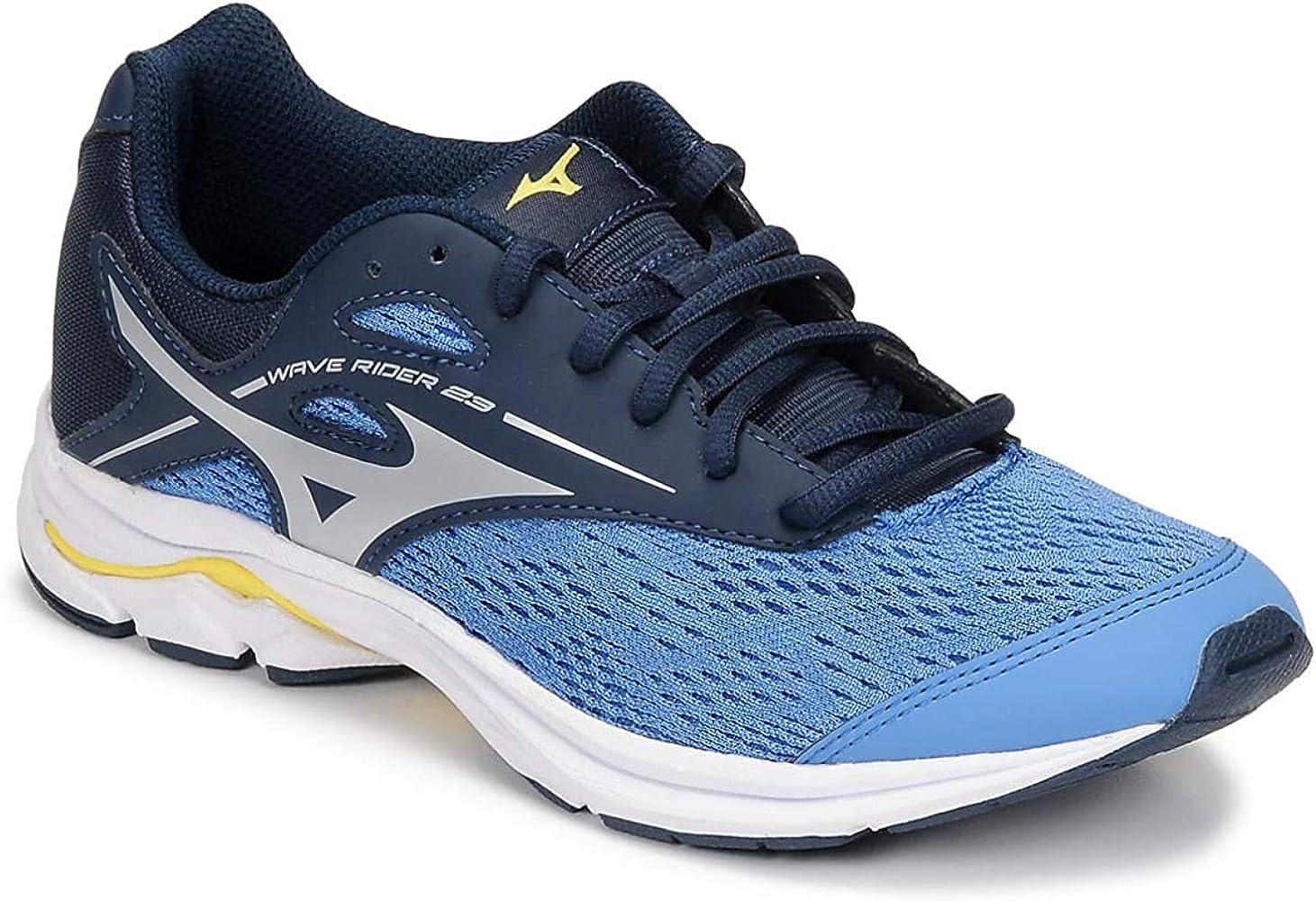 Mizuno Wave Rider 23 Jr, Zapatillas de Running Unisex niños, Azul Campanula Plata Vestido Blues 3, 32.5 EU: Amazon.es: Zapatos y complementos