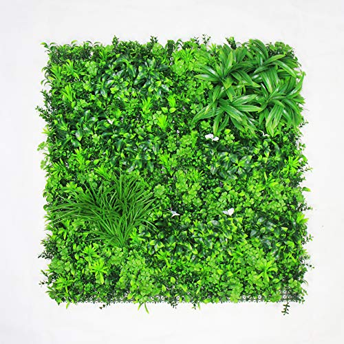 (ULAND Artificial Greenery Hedegs Panels, Ivy Plant Wall Cover, 1pc 40