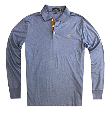 3a6e70ef0 Polo Ralph Lauren Mens Classic Fit Soft Cotton Interlock Polo Shirt at Amazon  Men's Clothing store: