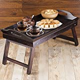 Rusticity Indian Rosewood Antique Designer Butler Breakfast Serving Tray w/ Legs/Vintage Rustic Decorative Handmade Sheesham Food Hot & Cold Drink Platter Table for Diningware & Kitchen Accessory