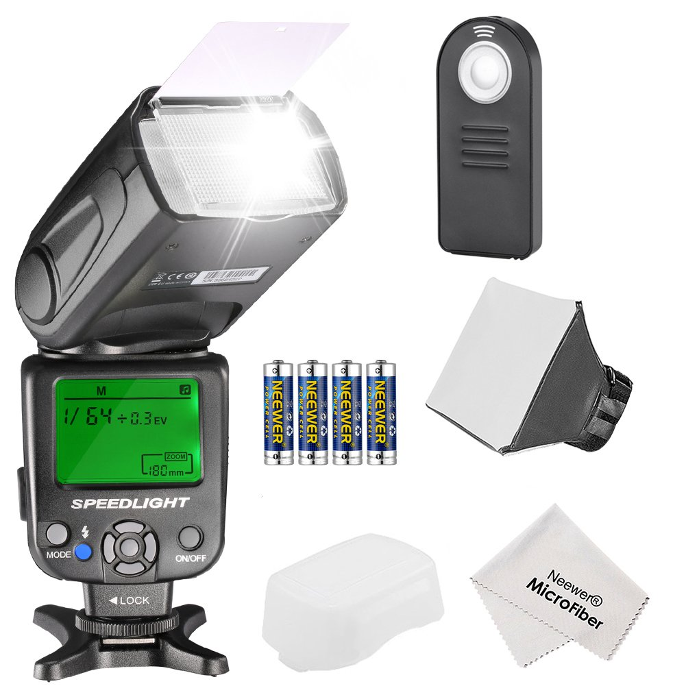 Neewer NW620 Manual Flash Speedlite Kit for Canon Nikon Sony Pentax DSLR Cameras,Includes: (1)NW620 GN58 Flash,(1)Soft/Hard Diffuser,(1)4-in-1 Remote Control