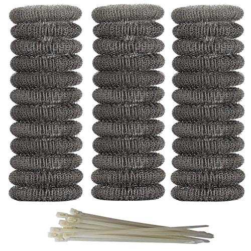Axe Sickle 36 Pieces Washing Machine Lint Traps Snare Laundry Mesh Washer Hose Filter with 36 Pieces Cable Ties. ()