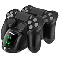 DOBE PS4 Controller Charger, Dual Shock 4 Controller Charging Docking Station with LED Light Indicators and bottom light for PS4/PS4 Slim/PS4 Pro Controller