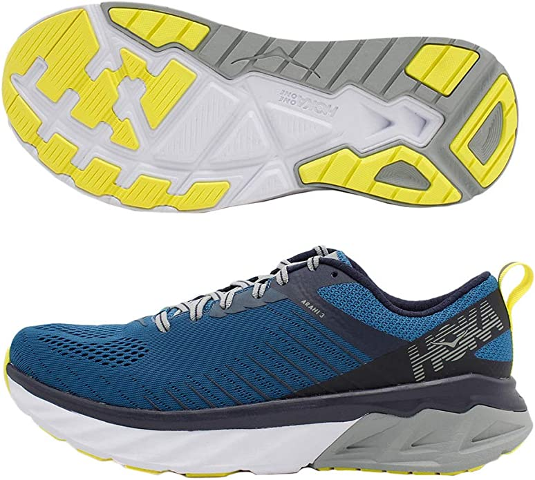 HOKA ONE One Arahi 3 Deportivas Hommes Azul/Verde Running/Trail: Amazon.es: Zapatos y complementos