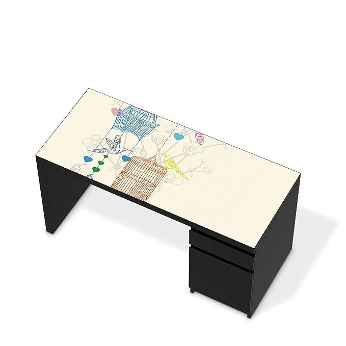 Los muebles-pegatinas de IKEA solía de escritorio tablero de la ...