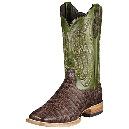 b13e671b18d Amazon.com | Ariat Men's Nitro Caiman Belly Boots, Green, 11 B | Boots