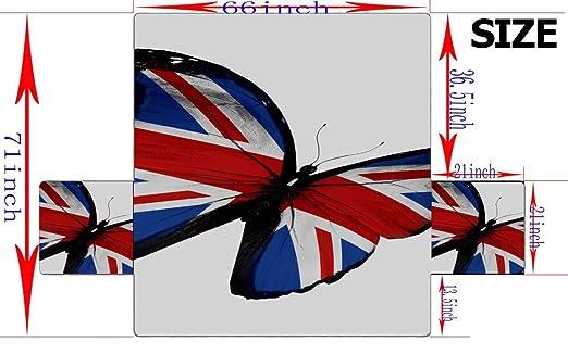 Bandera inglesa Mariposa volando aislada en la cubierta del ...