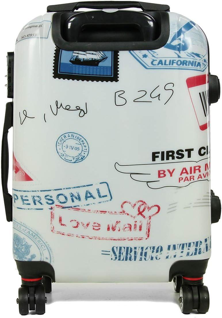 Polycarbonate et Abs L0809 54 X 36 X 20cm Valise Cabine /à 4 Roues 360/° Bleu Chat LIVAN/® Rigide et Ultra l/éger