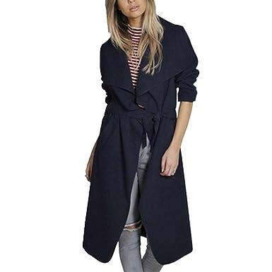 Damen Wolle Yacopo Elegant Mantel Trenchcoat A4j5Lq3R