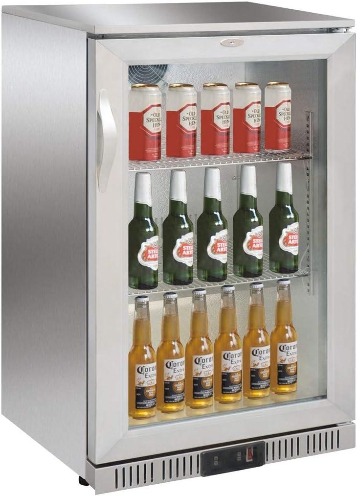Frigorífico para botellas con puerta de cristal, 138 litros ...
