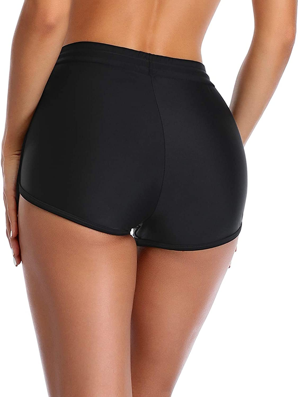Yonique Women Swim Shorts Drawstring Tankini Bottoms Elastic Waistband Swimsuit Bottoms