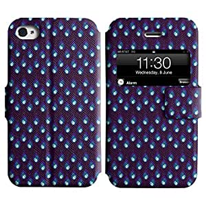 Be-Star Diseño Impreso Colorido Slim Casa Carcasa Funda Case PU Cuero - Stand Function para Apple iPhone 4 / 4S ( Blue Drops )