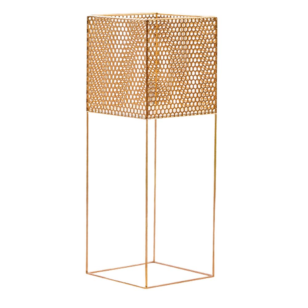 LJHA huajia Flower Stand, Nordic Iron Art Floor-Standing Indoor Living Room Flower Stand (Color : Gold) by GYH Flower stand