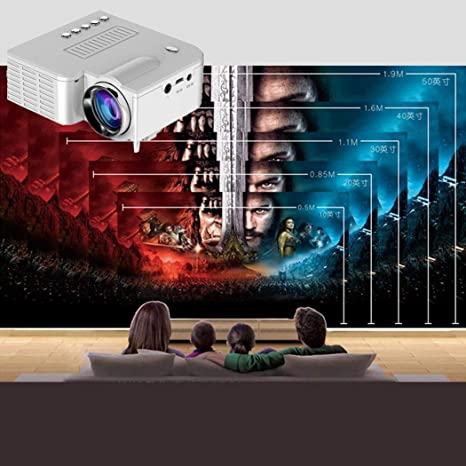 Amazon.com: Mini proyector LED portátil 1080P Multimedia ...