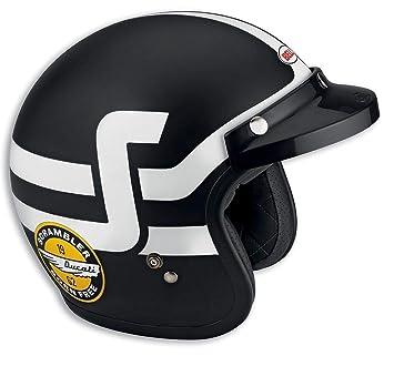 Ducati% Sale% Scrambler 98103081 Casco Jet Casco Bell Short Track Negro de color blanco