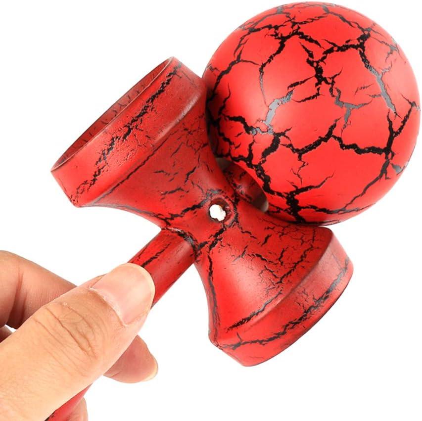 Perfekte Ausbildung Kinder Intelligenz Geschenke Schwarz Blau Catkoo H/ölzerne Crack Paint Kendama Jonglierball Japanischen Traditionellen Zappeln Sport Spielzeug