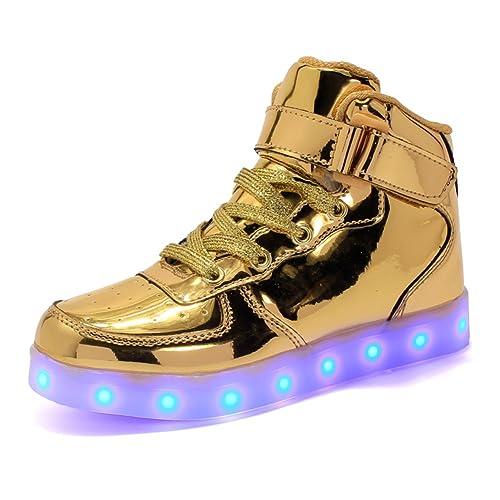 ByBetty Adultos Zapatillas LED Mujer Hombre 7 Colores Zapatillas con Luces LED EU 38-46: Amazon.es: Zapatos y complementos