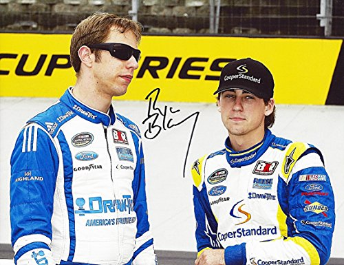 Autographed 2014 Ryan Blaney  29 Cooper Standard Racing  Keselowski Racing  Truck Series Signed 9X11 Nascar Glossy Photo With Coa