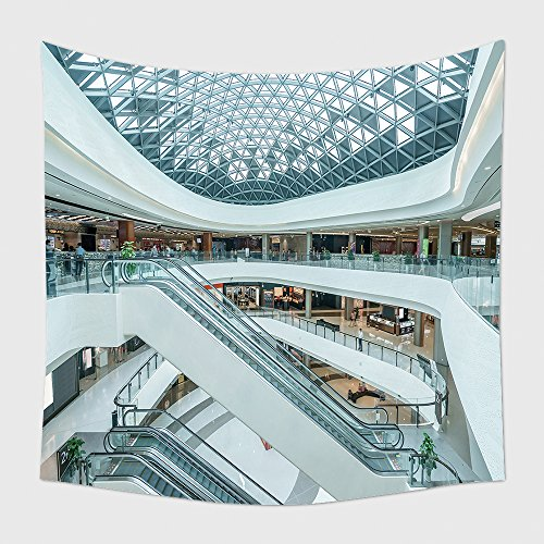 Home Decor Tapestry Wall Hanging Interior Of Modern Shopping Mall for Bedroom Living Room - Delaware Mall Shopping